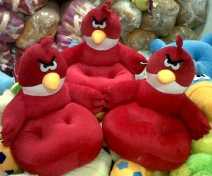 PUSAT GROSIR SOFA BONEKA ANGRY BIRD RED
