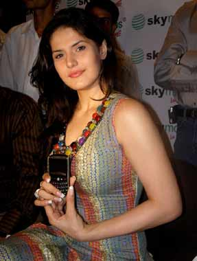 , Zarine Khan Promotes A Lineup Of Mobiles Launched By Sky Mobiles