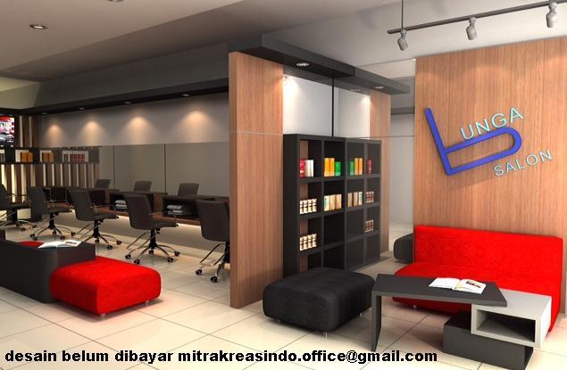 desain interior salon keciljasa design sketchup 3dmax autocad 2d photoshop august 2015