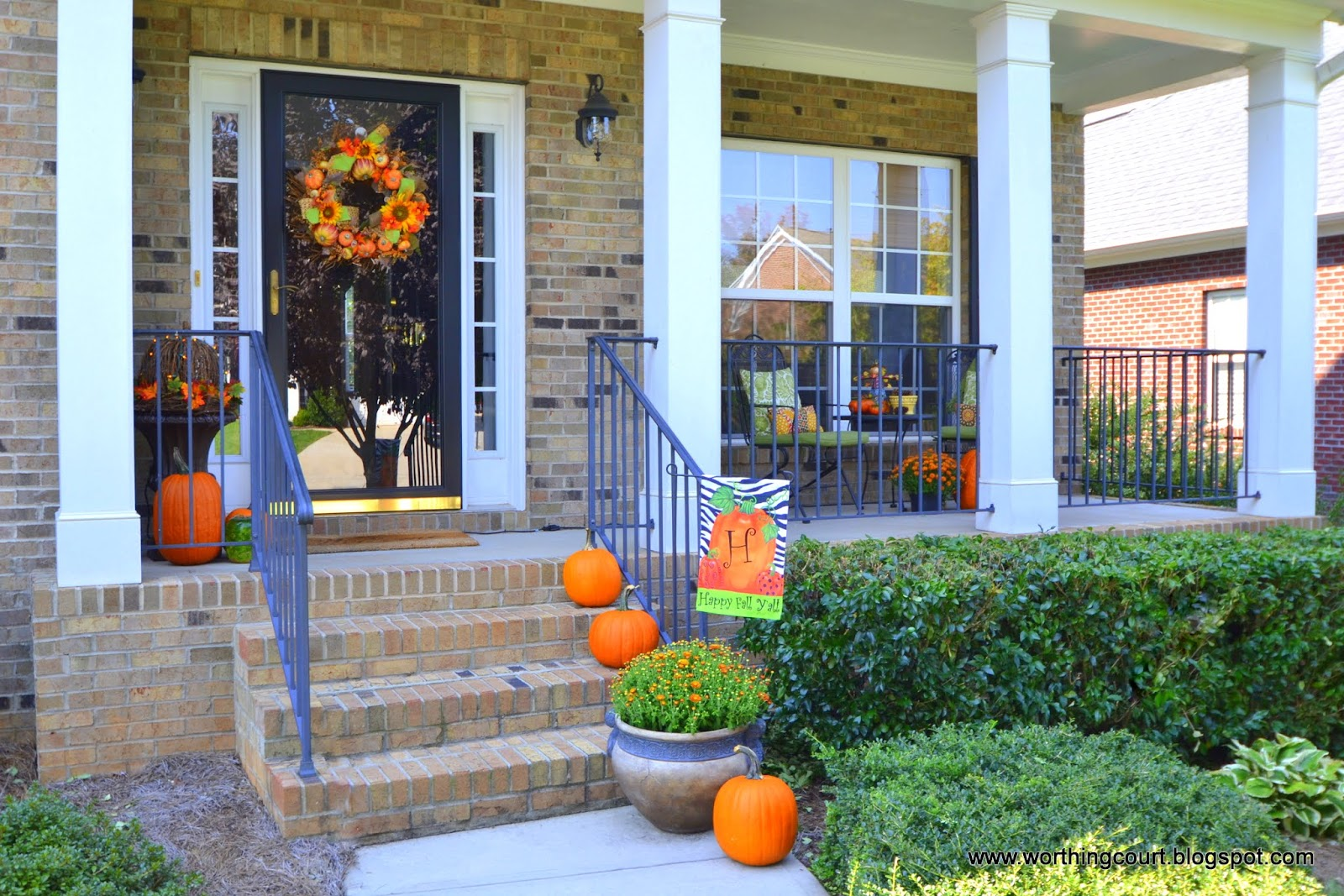 My Fall Decorations On The Front Porch Worthing Court