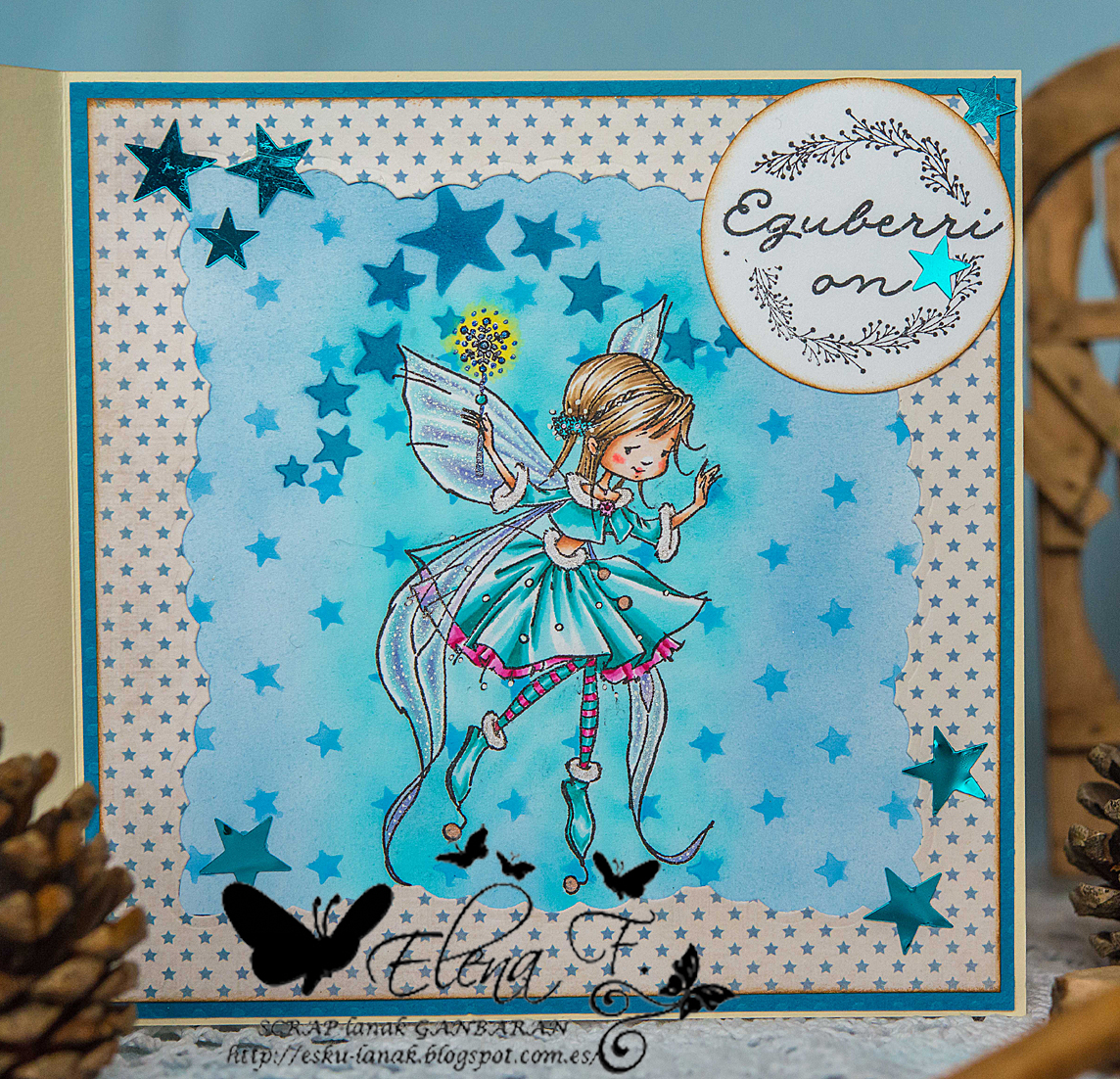 SCRAP-lanak GANBARAN: Funky Kits mixed media card copic airbrush ...