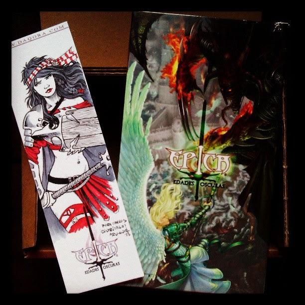 caja de Épica Edades Oscuras con dedicatoria de ªRU-MOR