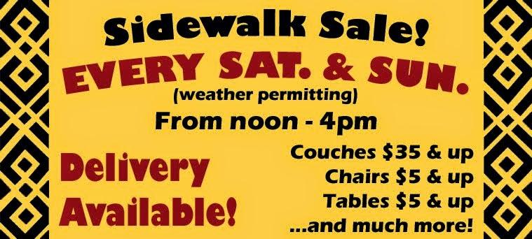 SIDEWALK SALE!!