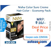 Buy Nisha Economy Hair Color 40 gms at Rs.20 Zotezo: Buytoearn