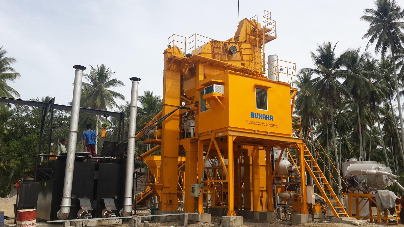 Pemasangan Asphalt Mixing Plant di Toli Toli Sulteng