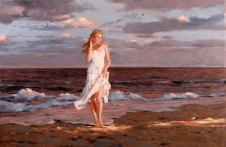 On the beach, Richard S. Johnson