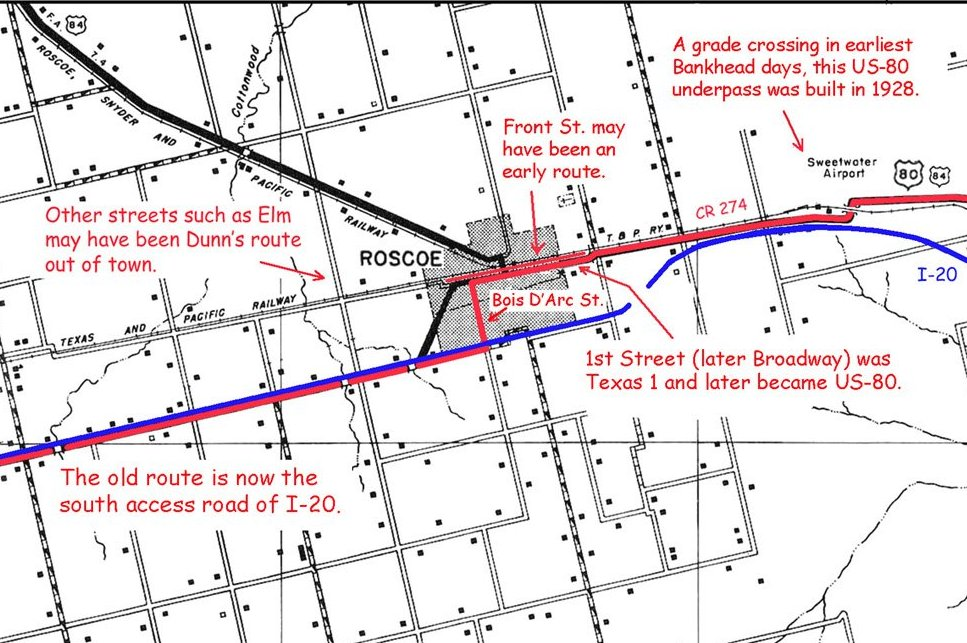 In This Modified 1936 County Map The Red Line Indicates The Route Of The Old Bankhead Highway The Blue One Is I 20 The Map Will Appear In Dan Smith S