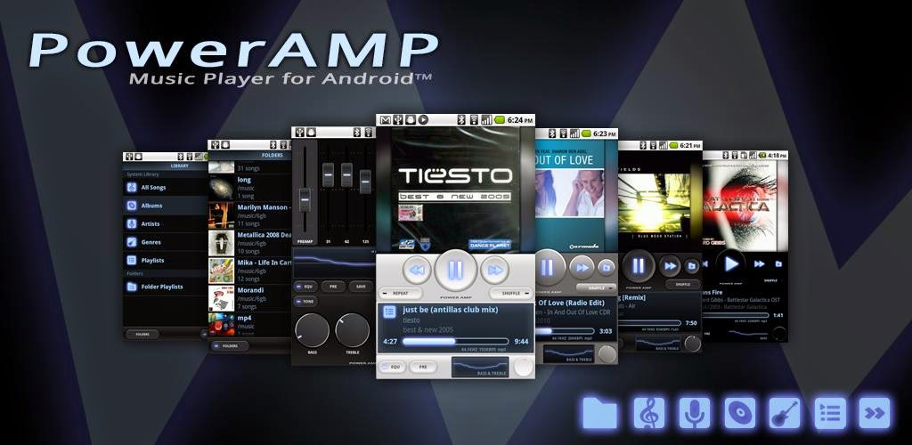 Poweramp Music Player v2.0.10 Unlocker Full Apk