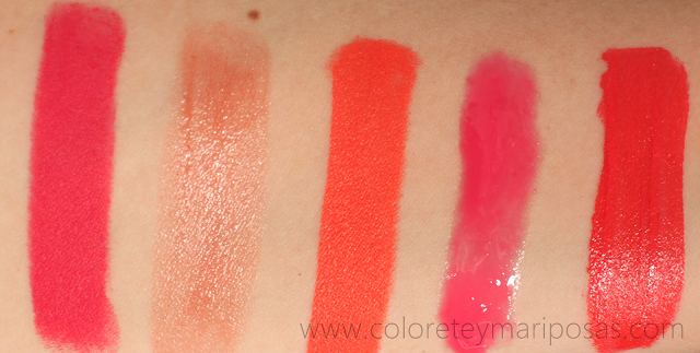 Swatches labiales 2015