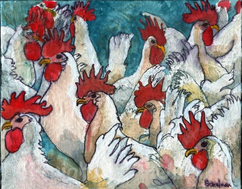 Rooster Art by @SchulmanArt