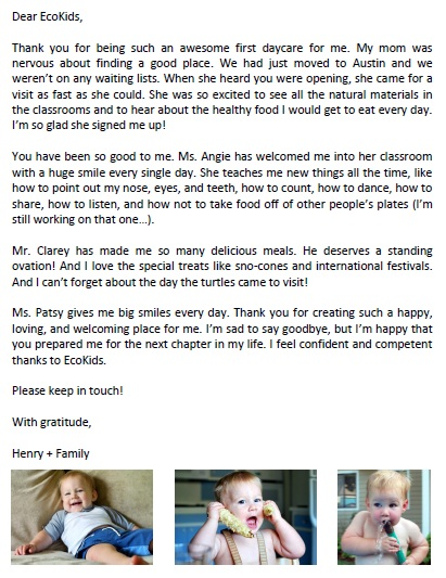 farewell letter to daycare parents | just b.CAUSE