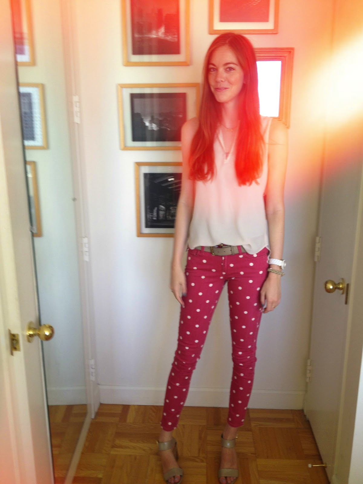 To fall into love those red polka dot pants those red polka dot pants i bought these pants within 0005 seconds of finding them not only were they an outrageous print that i knew i had to try out sisterspd