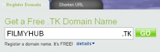 Dot Tk domain registration panel
