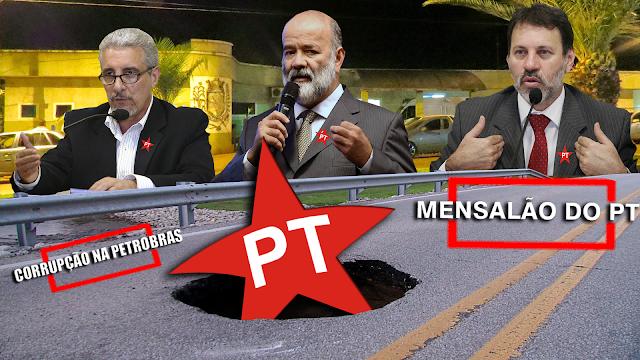 BORRAZÓPOLIS - O MENSALÃO DO PT E CORRUPÇÃO NA PETROBRAS REFLETE AQUI MESMO NO MUNICÍPIO