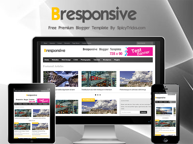 Bresponsive Premium Blogger Template tạp chí chuyên nghiệp