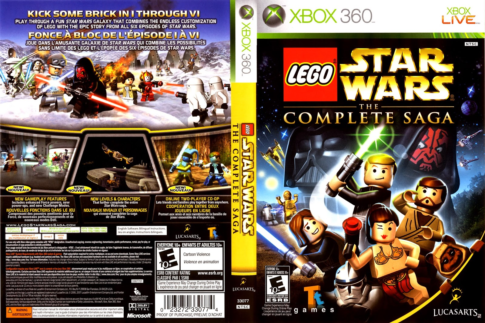 Capa LEGO Star Wars The Complete Saga XBOX 360