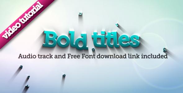 VideoHive Bold Titles Logo Revealer