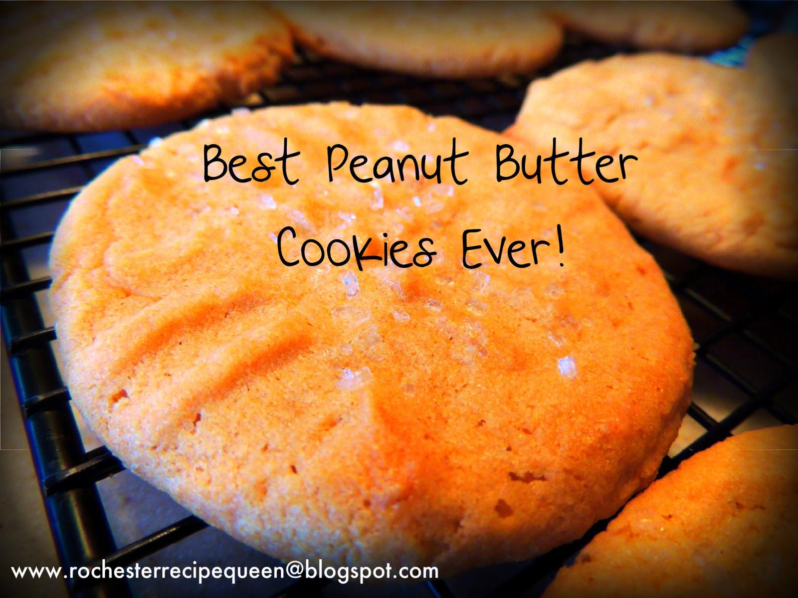 The Rochester Recipe Queen!: Best Peanut Butter Cookies Ever!