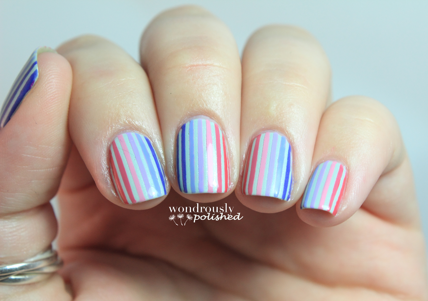 Wondrously Polished 31 Day Nail Art Challenge Day 12 Stripes