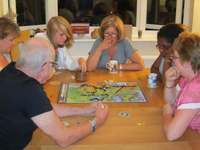 Players during a game of Trans Europa
