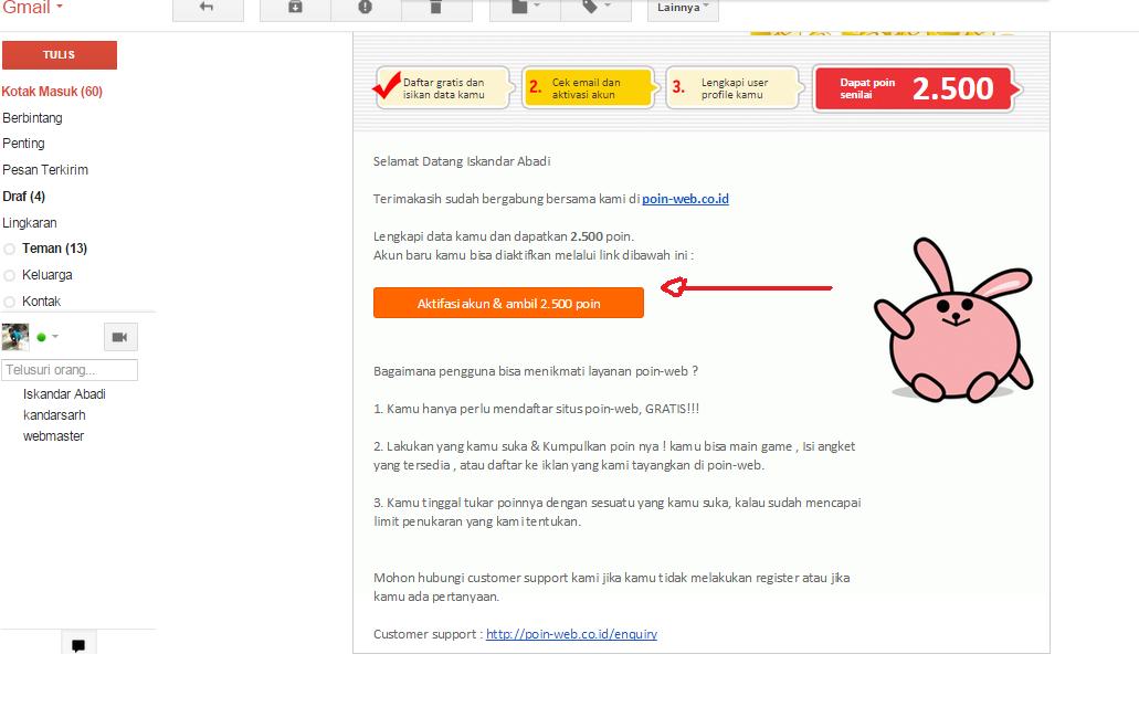 Buka kotak masuk email anda
