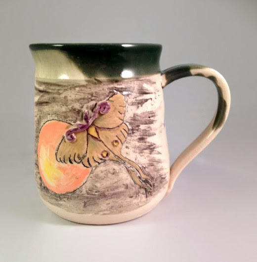 Luna Moth Mug by Lori Buff