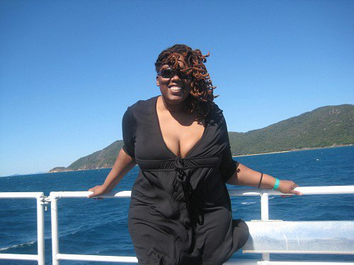 Black woman on a boat