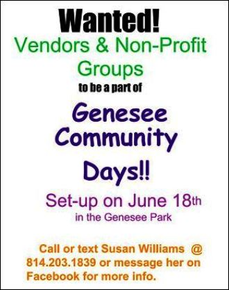 6-18 Vendors Wanted In Genesee, PA