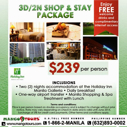 Mango Tours Holiday Inn Manila Galleria Package Philippines