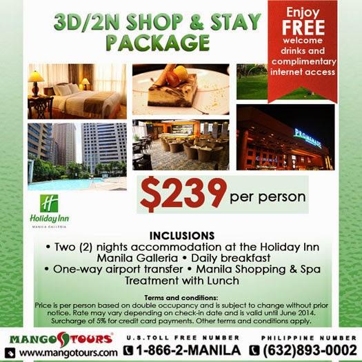Mango Tours Holiday Inn Manila Galleria Package Philippines