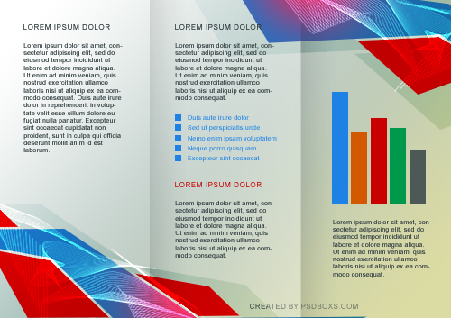 Free PSD Abstract Tri Fold Brochure