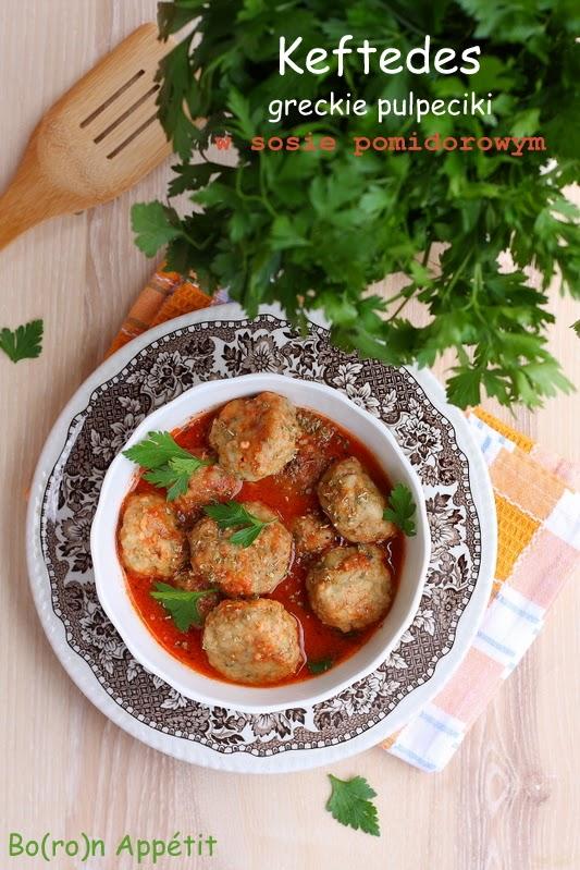 Klopsiki ziołowe w sosie pomidorowym