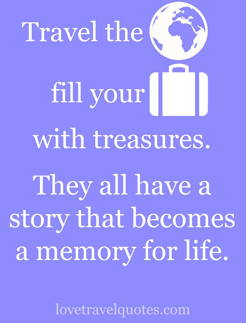 travel the world fill your suitcase with treasures they all have a story