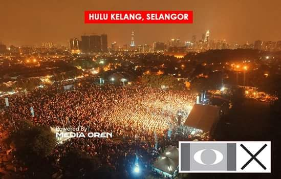"CERAMAH MEGA PRU14 DI HULU SELANGOR ; KEHADIRAN PENYOKONG PAKATAN 50 RIBU  TANPA DITABURI "" DEDAK """