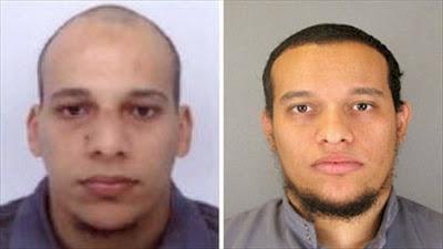 Fotografia de Saïd e Chérif Kouachi são os principais suspeitos do ataque contra o jornal satírico Charlie Hebdo.