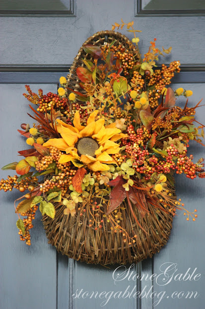 Fall Wreath Front Door Decoration