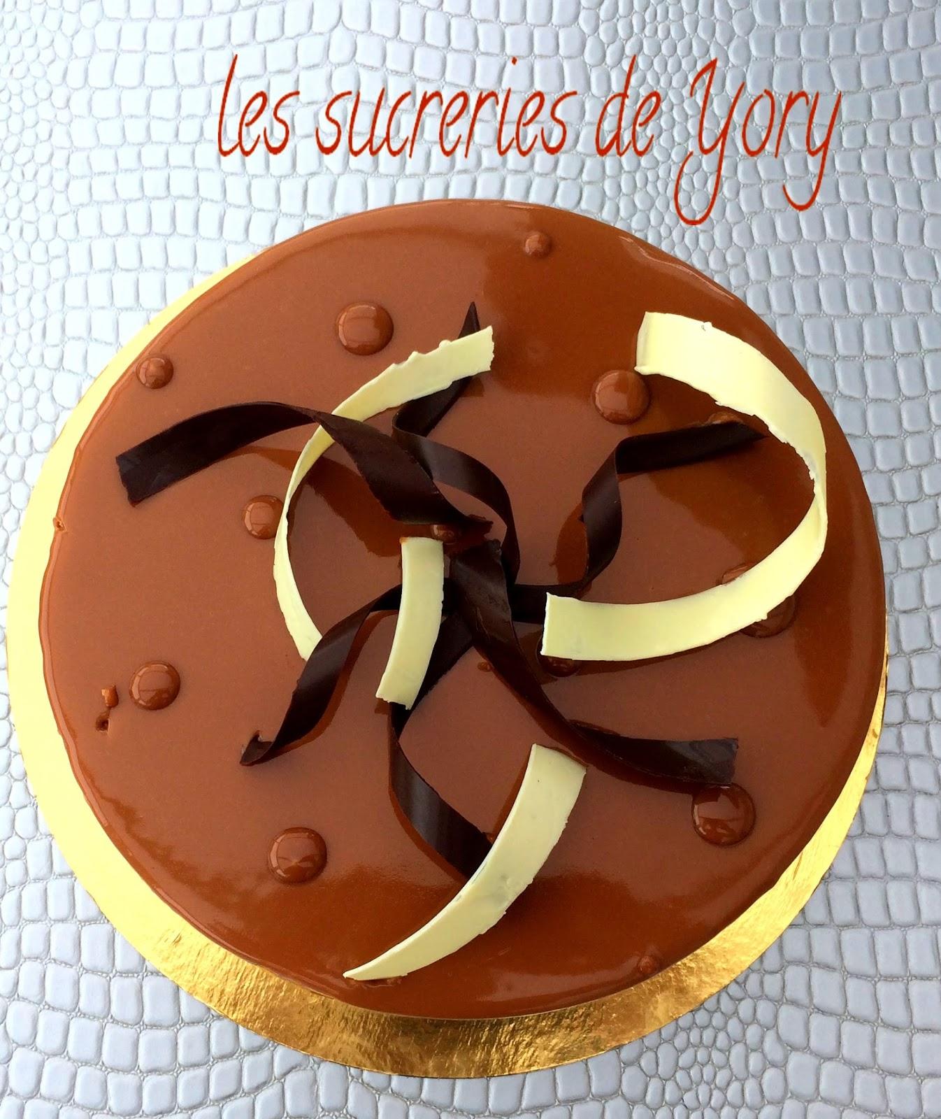 les sucreries de Yory Entremet chocolat au lait vanille