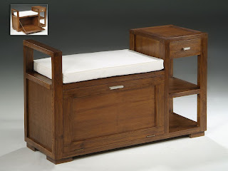 banco mesa, banco recibidor, banco con baul y cajones, mueble recibidor, baul entrada