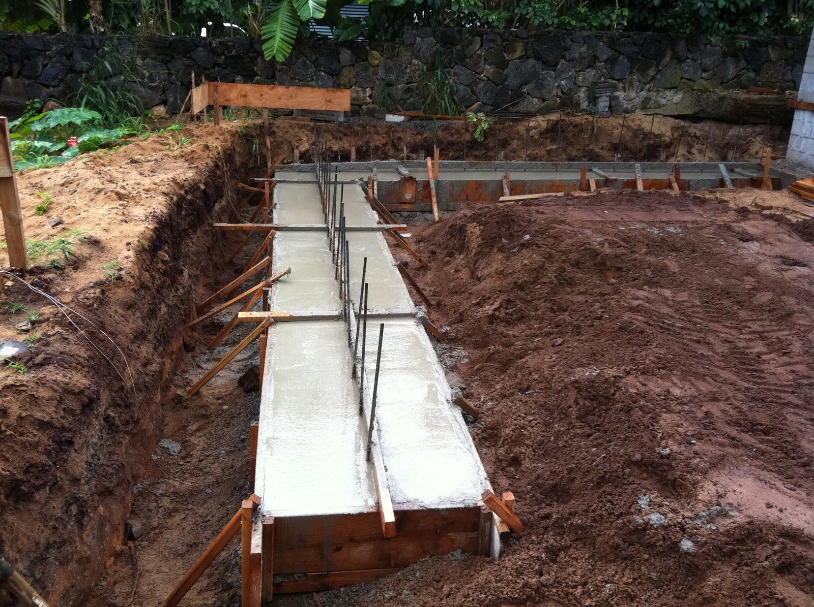 Ke iki properties construction blog new garage footing for Slab basement