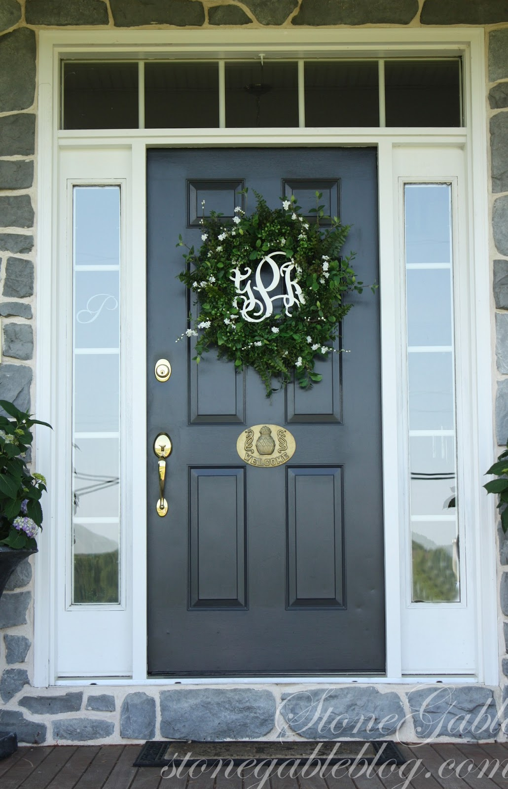 front title summer blog page stonegable wreath door wreaths