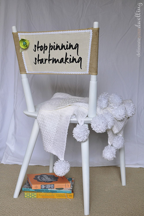 Stop Pinning Chair Update, Delineate Your Dwelling #tote #upcycle