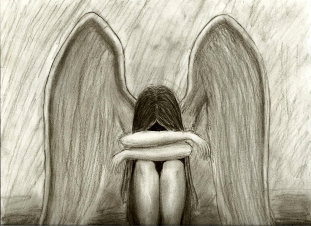 depressed angel drawings - photo #39