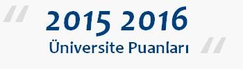 üniversite taban puanları 2015 2016