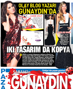 Her Pazar Sabah Gazetesi Günaydın Ekinde Sizinleyim...