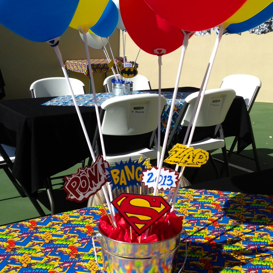 Right at home super hero graduation party