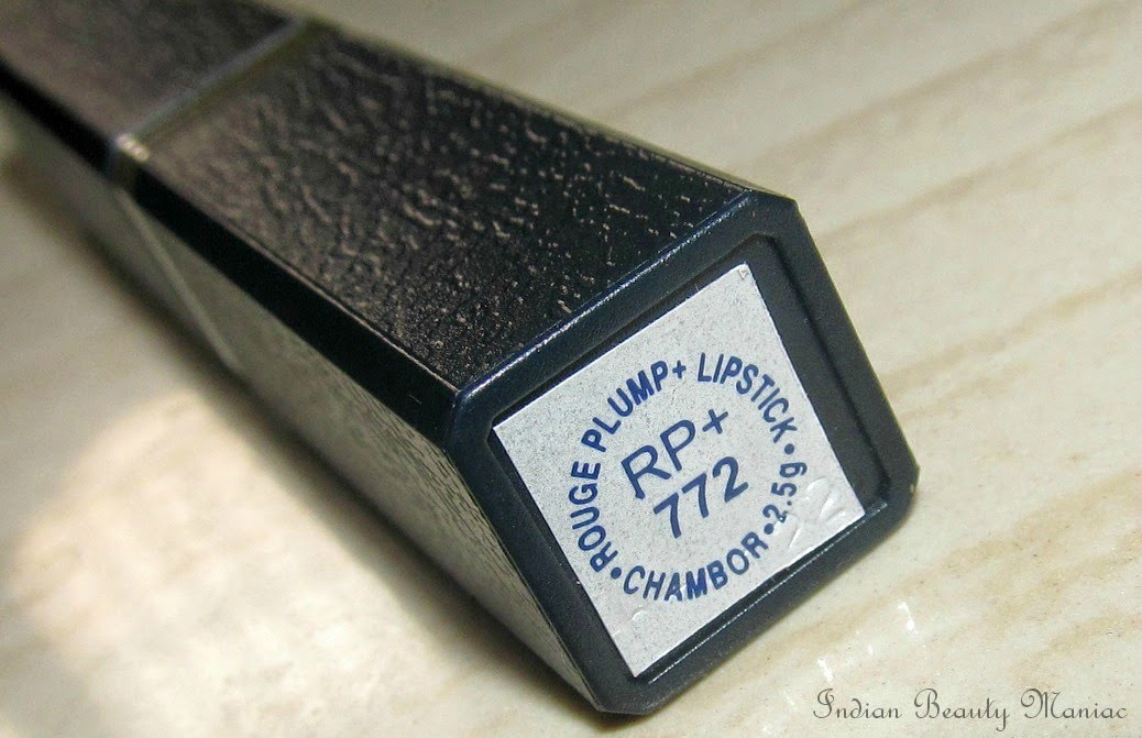 Chambor Rouge Plump Lipstick 772 shade name