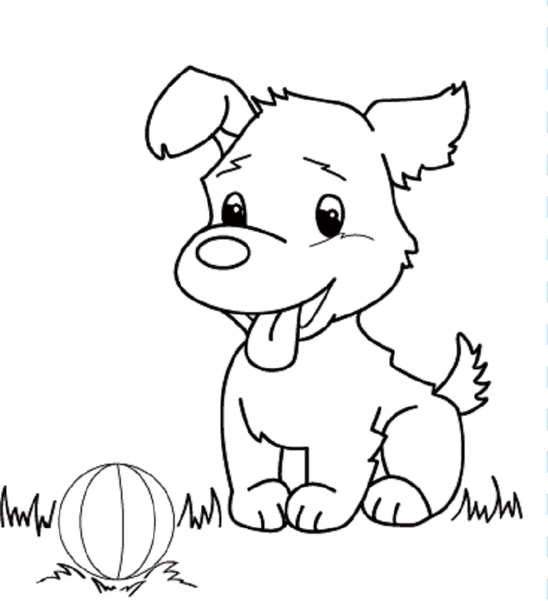 Colours drawing wallpaper beautiful cute puppies colour for Black and white coloring pages of dogs