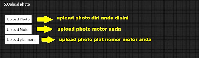 upload photo, cara daftar topjek