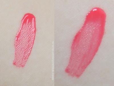 nanas'B cherry yogurt tint swatched on arm