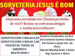SORVETERIA JESUS É BOM